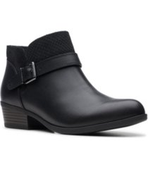 clarks collection women's addiy sharilyn ankle leather booties women's shoes