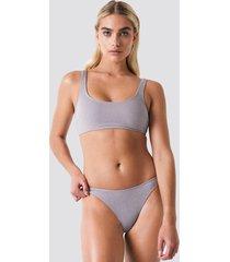 galore x na-kd lurex bikini bottom - pink,silver