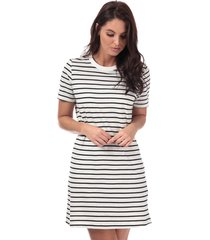 only june stripe dress size 6-8 in white