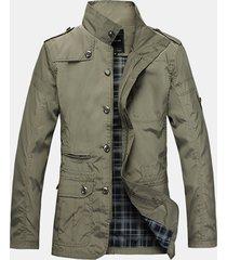 giacca stretch in poliestere puro