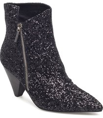 boot glitter shoes boots ankle boots ankle boots with heel svart sofie schnoor