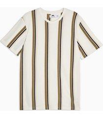 mens white and tan stripe t-shirt