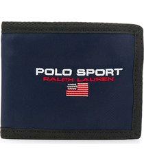 polo ralph lauren embroidered logo wallet - blue
