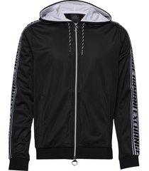 man jersey sweatshirt hoodie trui zwart armani exchange