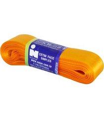 fita de cetim nº05 22mm peça com 10m laranja cerâmica unica