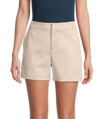saks fifth avenue women's chino shorts - khaki - size 10