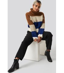 trendyol blocked sweater - multicolor