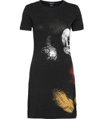 vest mickey dresses t-shirt dresses zwart desigual