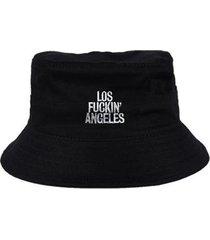 chapéu bucket skull clothing los fk angeles - unissex