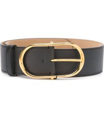 dolce & gabbana oval buckle belt - black