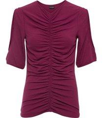 maglia arricciata con poliestere riciclato (viola) - bodyflirt