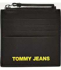 tommy hilfiger women's tommy zip card holder black -