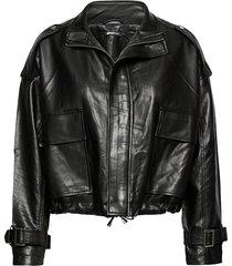 hope pu jacket leren jack leren jas zwart gina tricot