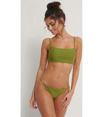 na-kd swimwear sömlös bikinitrosa med tunna band - green