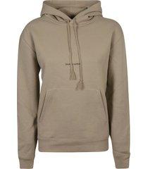saint laurent mid logo print hoodie