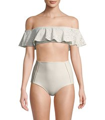 bandeau ruffle bikini top