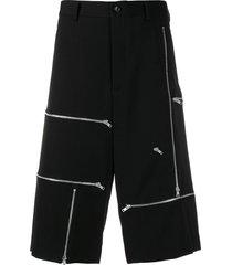 comme des garçons homme plus zip embellished shorts - black