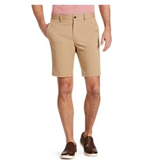 1905 collection tailored fit flat front twill shorts - big & tall by jos. a. bank