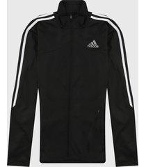 chaqueta negro-blanco adidas performance marathon 3 rayas