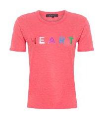 camiseta heart - vermelho