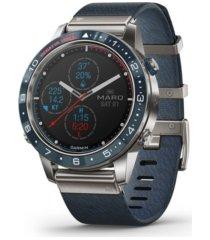 garmin mens marq captain blue nylon strap smart watch, 46mm