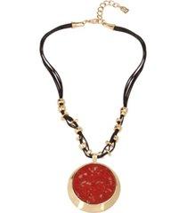 robert lee morris soho jasper stone pendant necklace