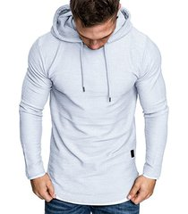 contract color pullover drawstring hoodie