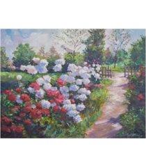 "david lloyd glover blossom lane canvas art - 37"" x 49"""