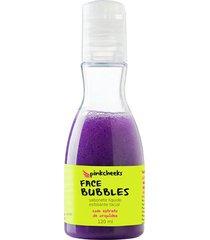 sabonete líquido esfoliante facial pinkcheeks face bubbles 120ml