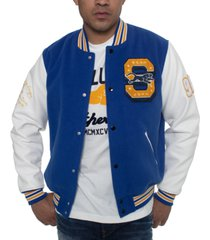 sean john men's colorblocked varsity jacket