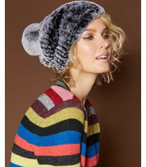 the fur vault knitted rabbit fur hat