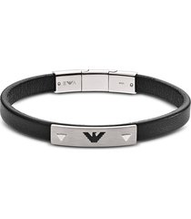 emporio armani designer men's bracelets, leather signature bracelet