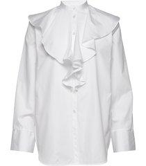 cabrera overhemd met lange mouwen wit totême
