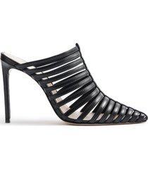 caprien mule - 7.5 black leather