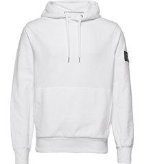 monogram badge hoodie hoodie vit calvin klein jeans