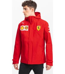 ferrari team woven hooded herenjack, rood, maat m | puma