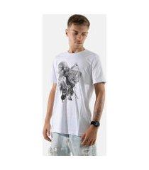 camisa t-shirt 3d rioutlet branco 234