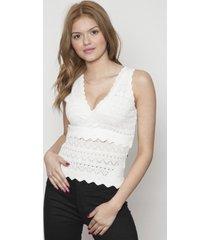 blusa cruzado sin mangas blanco 609 seisceronueve