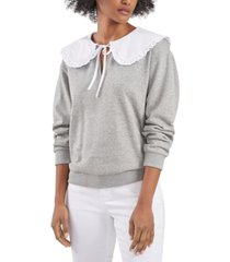 riley & rae blake oversized-collar sweatshirt top, created for macy's