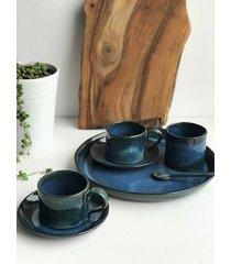 patera ceramiczna / filiżanka 2 szt / cukiernica