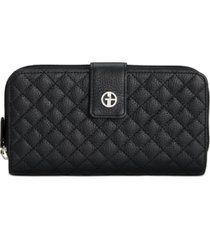 giani bernini quilted leather all in one wallet, created for macy's