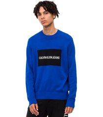 sweater institutional azul calvin klein