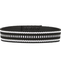 paule ka contrast-embroidered belt - black