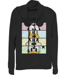 fifth sun juniors disney mickey classic crew crop fleece cowl neck sweatshirt