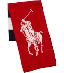 polo ralph lauren men's reversible pony scarf