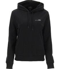 a.p.c. item 001 hoodie with logo print