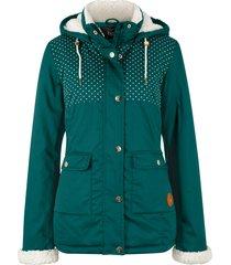 giacca con cappuccio in pellicciotto sintetico (verde) - bpc bonprix collection