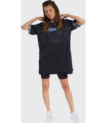 vestido reebok cl bball dress azul - calce regular
