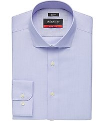 awearness kenneth cole awear-tech blue patterned slim fit dress shirt