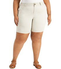 style & co plus size chino shorts, created for macy's
